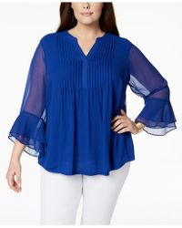 Charter Club - Plus Size Pintucked Tunic, Created For Macy's - Lyst