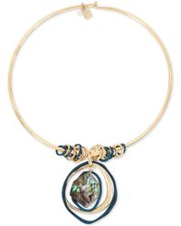 "Robert Lee Morris - Gold-tone Abalone-look Wire 17"" Pendant Necklace - Lyst"