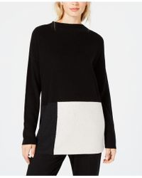 Eileen Fisher - ® Colorblocked Mock-neck Jumper, Created For Macy's - Lyst
