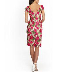 Xscape Floral Lace Sheath Dress - Pink