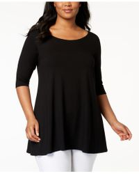 Eileen Fisher - Plus Size System Stretch Jersey Swing Tunic - Lyst