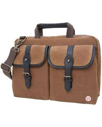"Token Waxed Knickerbocker 13"" Laptop Bag - Multicolour"