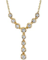 Sirena - Diamond Lariat Necklace (1/2 Ct. T.w.) In 14k White Or Yellow Gold - Lyst