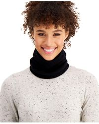 Charter Club Cashmere Solid Gaiter Facemask, Created For Macy's - Black