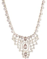 """Givenchy - Crystal & Stone Statement Necklace, 16"""" + 3"""" Extender - Lyst"""