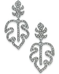 INC International Concepts - I.n.c. Silver-tone Pavé Palm Leaf Drop Earrings, Created For Macy's - Lyst