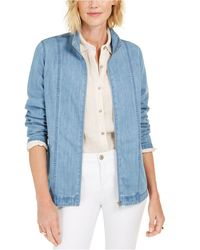 Karen Scott Denim Jacket, Created For Macy's - Blue