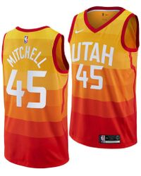 new style ce1c2 c9746 Nike Donovan Mitchell Utah Jazz City Edition Dri-fit Nba T-shirt in Green  for Men - Save 23% - Lyst