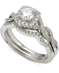 Marchesa - Certified Diamond Bridal Set (1 Ct. T.w.) In 18k White Gold - Lyst