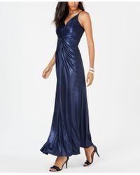 Adrianna Papell - Allover Metallic Knotted Gown - Lyst