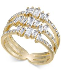 INC International Concepts - I.n.c. Gold-tone Crystal Stack Ring, Created For Macy's - Lyst