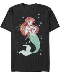 Fifth Sun Anime Ariel Short Sleeve Crew T-shirt - Black