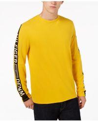 e5758b66e19075 Lyst - Tommy Hilfiger Men s Logo-print Shirt in White for Men