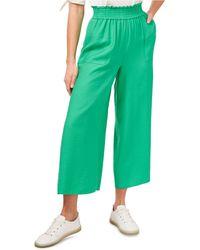 Cece Tie-waist Wide-leg Ankle Pants - Green
