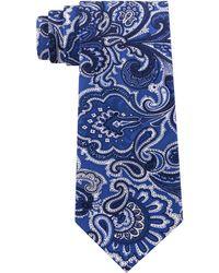 Michael Kors - Premium Light Paisley Slim Silk Tie - Lyst