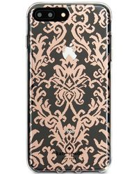 Kate Spade - Rose Gold-tone Tapestry Iphone 8 Plus Case - Lyst