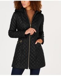 Via Spiga - Quilted Hooded Coat - Lyst