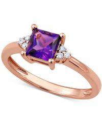 Macy's - Amethyst (3/4 Ct. T.w.) & Diamond Accent Ring - Lyst