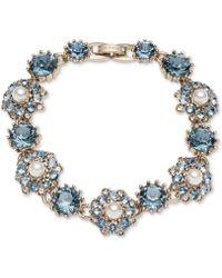 Marchesa - Gold-tone Crystal, Stone & Imitation Pearl Flex Bracelet - Lyst