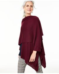 Charter Club Solid Cashmere Wrap, Created For Macy's - Red