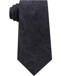Michael Kors Men's Satin Texture Paisley Silk Tie - Blue