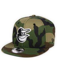 the latest e10f3 26b06 KTZ 9fifty League Essential Los Angeles Dodgers Cap Woodland Camo for Men -  Lyst