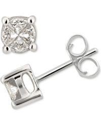 Macy's - Diamond Fancy Stud Earrings (1/2 Ct. T.w.) In 14k White Gold - Lyst