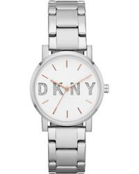 DKNY - Soho Stainless Steel Bracelet Watch 34mm, Created For Macy's - Lyst