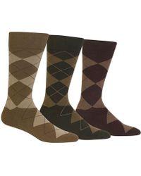 Polo Ralph Lauren - Men's Socks, Extended Size Argyle Dress Men's Socks 3-pack - Lyst