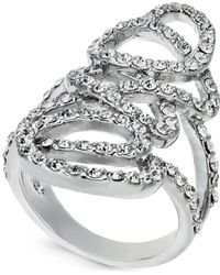 INC International Concepts - I.n.c. Silver-tone Pavé Tangle Ring, Created For Macy's - Lyst