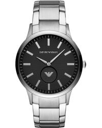Emporio Armani - Stainless Steel Bracelet Watch 43mm - Lyst