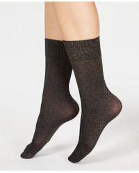 Spanx - Gold-tone Shimmer Half-calf Socks - Lyst