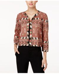 Cable & Gauge - Cupio Printed Cardigan - Lyst