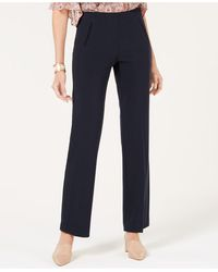 Style & Co. Petite Tummy-control Straight-leg Pants, Created For Macy's - Blue