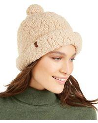 Timberland Knit Sherpa Fleece Shallow Beanie - Multicolor