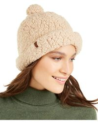 Timberland - Knit Sherpa Fleece Shallow Beanie - Lyst