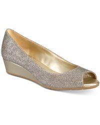 Bandolino - Candra Peep-toe Wedge Court Shoes - Lyst