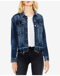 Vince Camuto - Released-hem Denim Jacket - Lyst