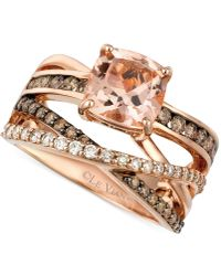 Le Vian - Peach Morganite (1-3/4 Ct. T.w.) And Diamond (3/4 Ct. T.w.) Ring In 14k Rose Gold - Lyst