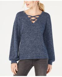 INC International Concepts - I.n.c. Criss-cross V-neck Top, Created For Macy's - Lyst