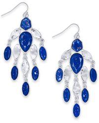 Style & Co. Stone Chandelier Earrings, Created For Macy's - Blue
