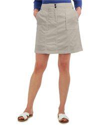 Karen Scott Petite Ribbed-waistband Skort, Created For Macy's - Gray
