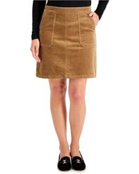 Charter Club Corduroy A-line Skirt, Created For Macy's - Brown