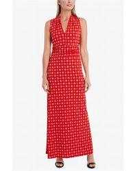 Vince Camuto Sleeveless Textured Foulard Halter Maxi Dress