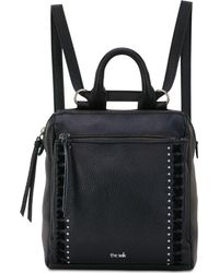 The Sak Loyola Convertible Small Leather Backpack - Black