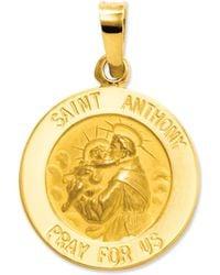 Macy's | 14k Gold Charm, Saint Anthony Medal Charm | Lyst