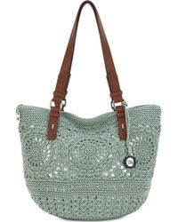 The Sak Silverwood Crochet Tote, Created For Macy's - Green