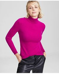 Charter Club Cashmere Turtleneck Sweater, In Regular And Petites, Created For Macys - Pink
