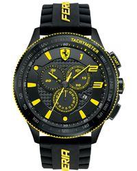 Ferrari - Men's Chronograph Scuderia Black Silicone Strap Watch 48mm 830139 - Lyst