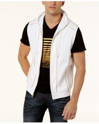 INC International Concepts - Men's Gold Piping Hooded Vest - Lyst